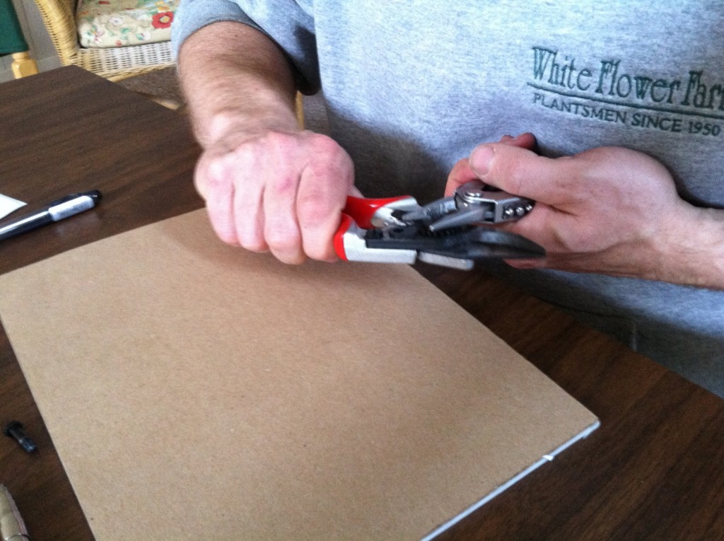 Matt uses an all-in-one-tool to disassemble his Felco pruners.