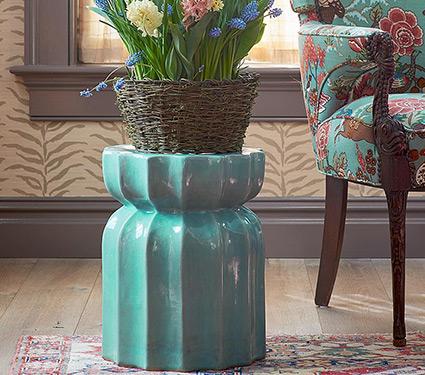 Ceramic Plant Stool