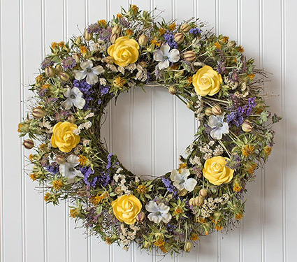 Sunshine & Roses Wreath
