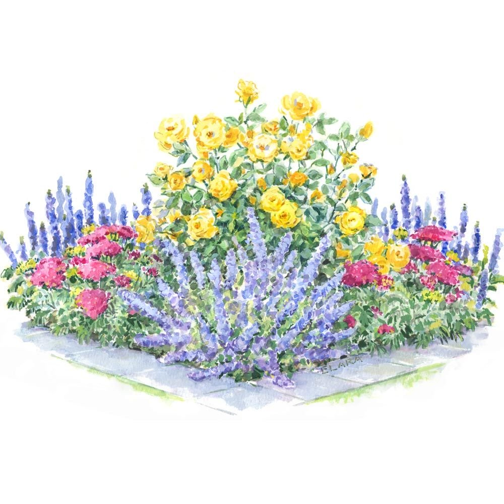 Fragrant Daisy Flower and Blue Sky Round Mouse Pad